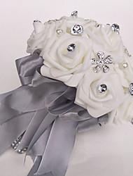economico -Bouquet sposa Bouquet Matrimonio Poliestere / Schiuma 25 cm ca.