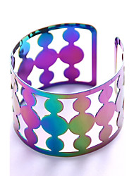 cheap -Women's Bangles Cuff Bracelet - Statement Fashion Geometric Rainbow Bracelet For Stage Club