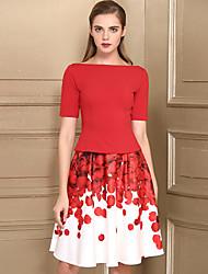 preiswerte -Damen Freizeit T-shirt - Blumen Rock