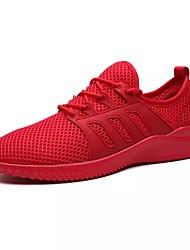 abordables -Homme Chaussures Printemps Automne Confort Marche Lacet pour De plein air Blanc Noir Gris Rouge