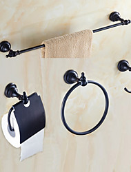 cheap -Bathroom Accessory Set High Quality Antique Metal 4pcs - Hotel bath tower ring tower bar Robe Hook Toilet Paper Holders Wall Mounted