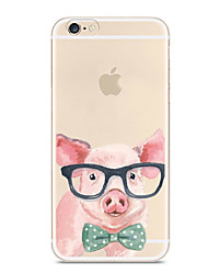preiswerte -Hülle Für Apple iPhone X iPhone 8 iPhone 8 Plus Ultra dünn Transparent Muster Rückseitenabdeckung Tier Cartoon Design Weich TPU für