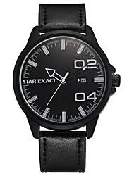 Homens Relógio Esportivo Relógio de Moda Relógio Casual Chinês Quartzo Calendário Mostrador Grande PU Banda Casual Legal Minimalista