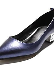 preiswerte -Damen Schuhe Paillette Echtes Leder Frühling Herbst Ballerina Pumps High Heels Flacher Absatz Für Normal Silber Rot Blau