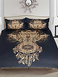 cheap -Duvet Cover Sets Luxury 3 Piece / Reactive Print / 3pcs (1 Duvet Cover, 2 Shams)