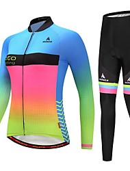 cheap -Miloto Cycling Jersey with Tights Women's Long Sleeves Bike Clothing Suits Stretchy Autumn/Fall Winter Cycling/Bike Luminous