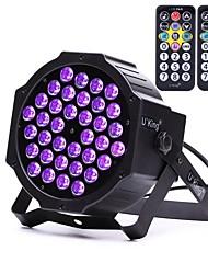 u'king zq-b193b-yk2 36 * 1w LED colore viola auto dmx suono attivato palcoscenico fase parzialmente con 1 telecomando per discoteca