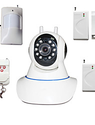 cheap -Pan Tilt IP Camera Wifi PTZ 720P Megapixels HD TF SD Card IP Cam With Wireless Burglar Alarm Detector For Home Security