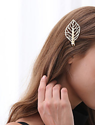 cheap -Women's Alloy Hair Clip,Metallic Sweet Spring/Fall All Seasons
