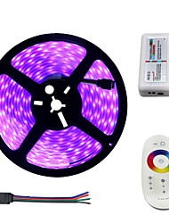 cheap -1Set HKV® IP67 300LED 72W RGB Strip Light 5050 Casing Waterproof 2.4G Touch Screen RF Remote Casing Pipe Strip Light