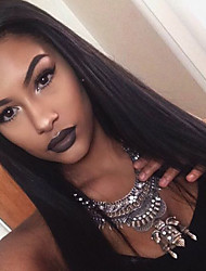 cheap -Human Hair Lace Front Wig Brazilian Hair Straight Layered Haircut With Baby Hair 130% Density Unprocessed 100% Virgin For Black Women
