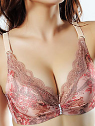cheap -Women's Sexy Full Coverage Bras Push-up / Wireless - Floral / Cotton