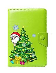 abordables -caso universal de la cubierta del soporte de la PU de la Navidad para 7 pulgadas 8 pulgadas 9 pulgadas 10 pulgadas tableta PC
