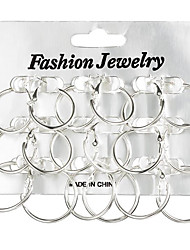 Women's Hoop Earrings Jewelry Geometric Fashion Alloy Circle Round Jewelry For Gift Daily
