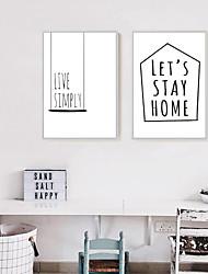 economico -Moda Decorazioni da parete in 3D Stampe con cornice Tele con cornice Set con cornice cornice Art Decorazioni da parete,Legno Materiale