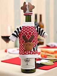 Недорогие -1pcs рождественские украшения поставляет красные бутылки вина бутылка