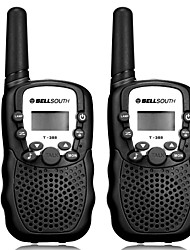 "cheap -Pair of T-388 Lovers Talking Mini 8KM Handheld  1"" LCD Screen Walkie Talkie Two Way Radio with Flashlight"