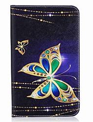 Porte-cartes porte-cartes papillon avec étui en cuir magnétique en cuir pour samsung galaxy tab a 7.0 t280 t285 Tablette 7.0 pouces