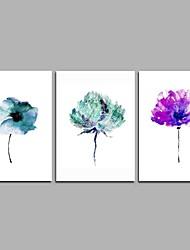 Недорогие -цветок семьи 3-х частей современного искусства искусства стены для украшения комнаты 20x28inchx3