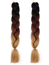 cheap -Afro Crochet Ombre Braiding Hair 100% Kanekalon Hair 2pcs/pack Jumbo Hair Braid