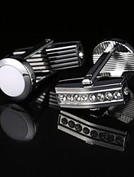 abordables -Forma Geométrica Plata Gemelos Diseño Hombre Joyería de disfraz