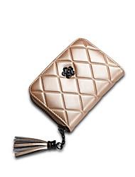 cheap -Women's Bags Cowhide Wallet Zipper for Shopping Blushing Pink / Gray / Fuchsia