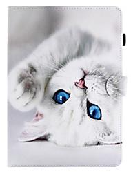 Недорогие -для чехлов держатель карты с подставкой флип магнитный рисунок полный корпус чехол кошка твердая кожа pu для яблока ipad pro 10.5 ipad