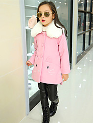 cheap -Girls' Cartoon Jacket & Coat,Wool Cotton Winter Fall Cute Casual Active Red Blushing Pink