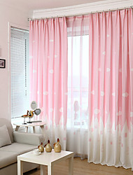 Rod Pocket Grommet Top Double Pleated Pencil Pleated Curtain European , Cartoon Kids Room Material Curtains Drapes Home Decoration For