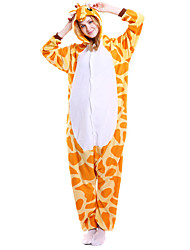 kigurumi Pyjamas Girafe Chauve souris Costume Orange Kigurumi Collant / Combinaison Cosplay Fête / Célébration Pyjamas Animale Halloween