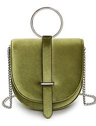 Women Bags Velvet Shoulder Bag Zipper for All Seasons Blue Black Red Dark Green Khaki