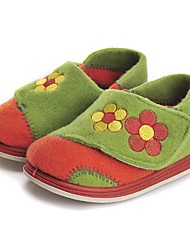 Girls' Shoes Fleece Fall Winter Comfort Loafers & Slip-Ons Magic Tape Split Joint For Casual Orange