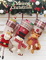 cheap -1pc Landscape Houses Stockings Ornaments Holiday, Holiday Decorations Holiday Ornaments