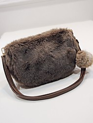cheap -Women Bags Fur Shoulder Bag Feathers / Fur for Event/Party Shopping Winter White Black Gray Brown Khaki