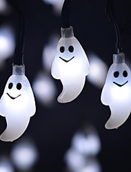 cheap -Solar Powered LED String Light Cute Ghost Shape 0.5W 10LM 2V 6M 30LEDS Multi Color/Warm White/White/Blue