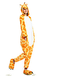 kigurumi Pyjamas Girafe Chauve souris Collant/Combinaison Fête / Célébration Pyjamas Animale Halloween Orange Géométrique Motif Animal