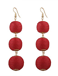 cheap -Women's Drop Earrings Hoop Earrings Geometric Cloth Cotton Jewelry For Gift Stage