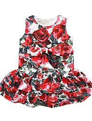 Robe Fille de Anniversaire Sortie Décontracté / Quotidien Vacances Fleur Polyester Automne Sans Manches