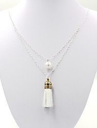 cheap -Women's Round Irregular Shape Multi Layer Elegant Pendant Necklace Chain Necklace Imitation Pearl Alloy Pendant Necklace Chain Necklace