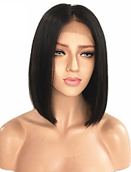 cheap -Remy Human Hair Lace Front Wig Straight Bob Haircut 150% Density Short Medium Women's