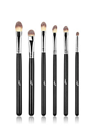 cheap -MSQ® 6pcs Makeup Brushes set MAC Makeup Style Travel Black Stems Makeup Kit Cosmetic Brushes