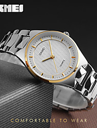 cheap -SKMEI Women's Dress Watch Fashion Watch Quartz Water Resistant / Water Proof Stainless Steel Band Charm Luxury Cool Casual Silver