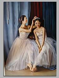 Недорогие -между балериной декор стены ручная роспись современные картины маслом современное произведение искусства стены