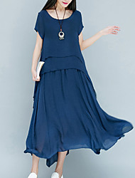 cheap -Women's Party Daily Vintage Chinoiserie Loose Swing Dress