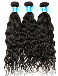 cheap -Indian Hair Unprocessed Water Wave Human Hair Weaves 3 Pieces Natural Color Hair Weaves