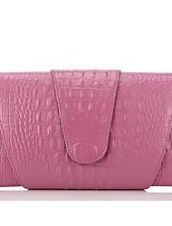 economico -Donna Sacchetti Vacchetta Pochette Cerniera per Casual Per tutte le stagioni Bianco Nero Rosa