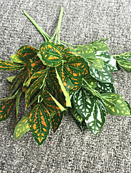 34cm 3 Pcs 7 branches/pc Home Decoration Artificial Green Plants Grass Leaves