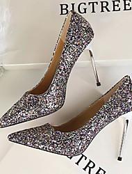 preiswerte -Damen Schuhe Lackleder Frühling Herbst Komfort Pumps High Heels für Normal Weiß Schwarz Silber Regenbogen Rot