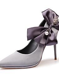 preiswerte -Damen Schuhe Kunstleder Frühling Sommer Komfort Neuheit Pumps High Heels Stöckelabsatz Schleife Für Hochzeit Normal Kleid Party &
