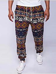 economico -Per uomo Vintage Largo Taglia piccola Chino Pantaloni Con stampe